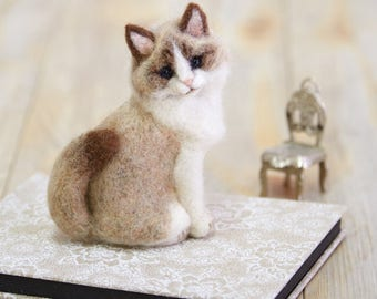Needle Felting  Kit Ragdoll Cat - Wool Craft  By Hamanaka  H441-466 2016 Collection