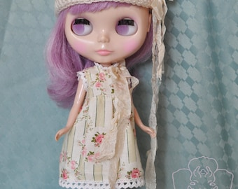 Rose-Apple dress for Blythe and Licca - Meadow Cottage Collection