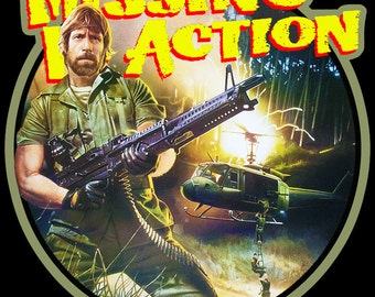 Chuck Norris Missing In Action Vintage Image T Shirt