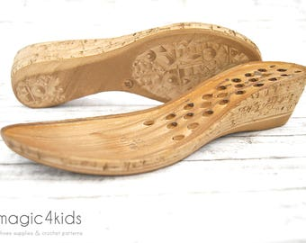 WEDGES SOLES with insoles  - high quality, very light soles for women sandals, wedges sole, shoe soles
