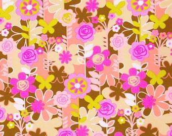 Erin McMorris Weekends, Garden Walk in Brown, 1 yard, Cotton Fabric