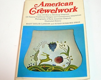 American Crewelwork by Mary Taylor Landon and Susan Burrows Swan, Vintage Needlework Book