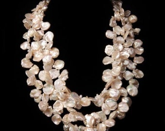"""Beads with petal pearls """"BLOSSOMING CHERRY"""""""