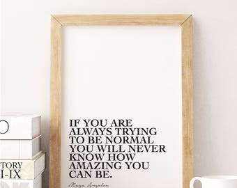 Maya Angelou Quote, Printable, Digital Download, Monochrome, Minimalist, Wall Art, Inspirational, Motivational, Graphic Design, Modern Decor
