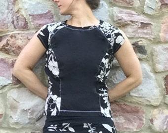 Princess Seam Swim Shirt modest swim shirt - Ultra CHLORINE RESISTANT option