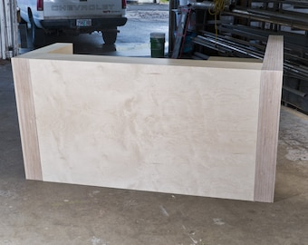 Baltic Birch Plywood Reception Desk with Side Extension