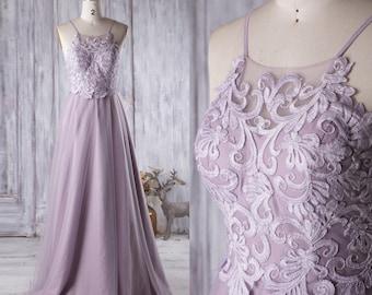 Purple Prom Dresses Straps