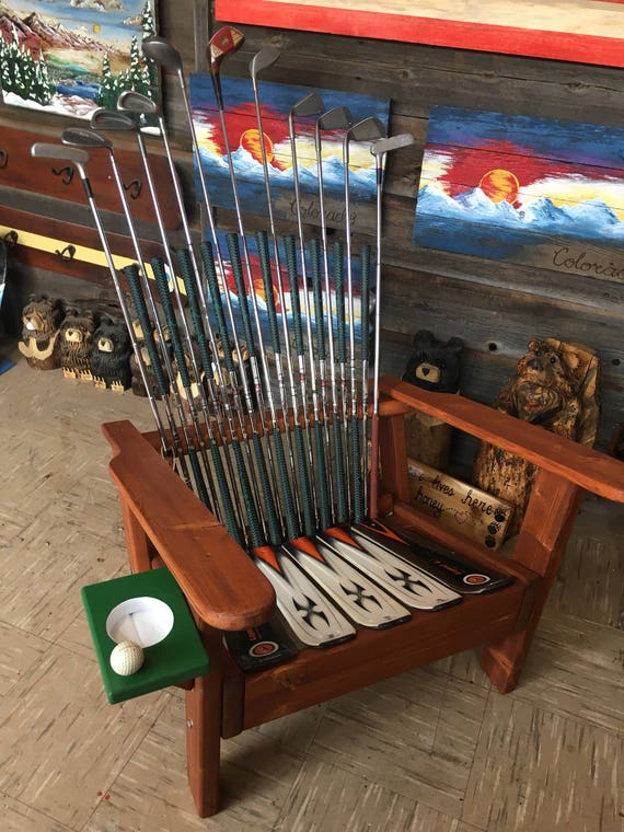 Bon Deluxe Adirondack Golf Club Chairs With Cupholder