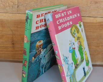 2 Vintage HCDJ Best in Children's Books. Collection of Adventure, Poetry,  Science, Fairy Tales, Geography, Stories. FREE USA Shipping.