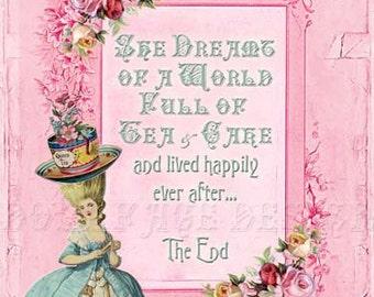 SOFORTIGE DIGITAL DOWNLOAD - Marie Antoinette Tea-Party - Druckversion - französischen Königin - Scrapbooking - Geschenk-Tag - Kunstdruck - Grußkarte
