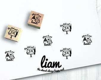 2 mini liam rubber stamps - FREE SHIPPING WORLDWIDE*