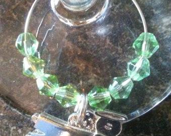 Birthstone Angel Wine Charm