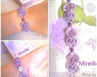 Mireille bracelet - Ankars Tatting PATTERN/TUTORIAL