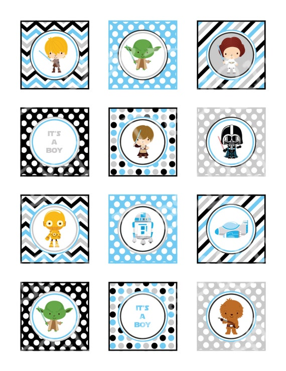 Star Wars Baby Shower 2u0027 Cupcake Toppers And Wrappers Boy