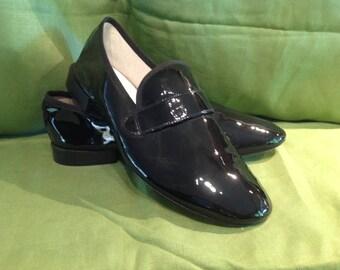 Repetto Paris Black Patent Leather Slip-On Size 43