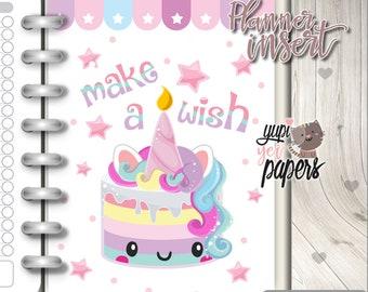 Birthday Insert, Planner Insert, Printable Planner Insert, Planner Divider, Planner Dashboard, Kawaii Planner, Planner Accesories