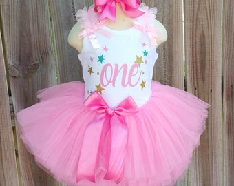 Twinkle Twinkle Little Star Custom First Second Third Birthday Tutu Outfit Free Personalization