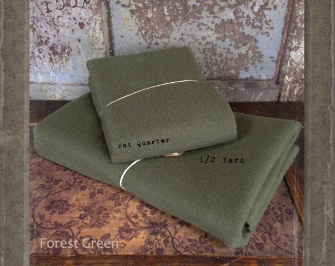 Wool: 1 YARD 100% Wool - FOREST GREEN - Marcus Fabrics