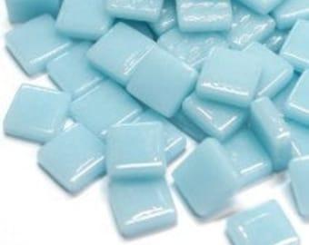 "12mm (1/2"") Light Blue Aqua Recycled Glass Square Mosaic Tiles//Mosaic Supplies//Craft Supplies//Mosaic Pieces"