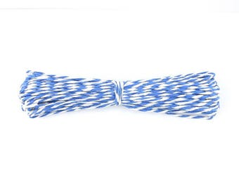 3 m string of bakers twine, blue and white 1.4 mm (A 32)