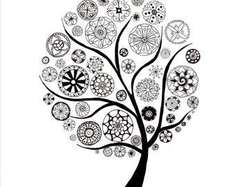 Mandala Tree Illustration