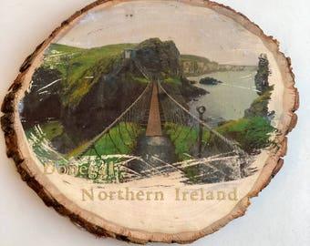 Distressed Northern Ireland Photo On Wood