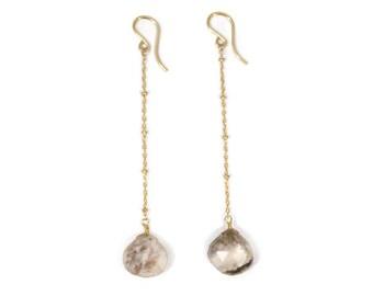 Dendritic Opal Chain Earrings