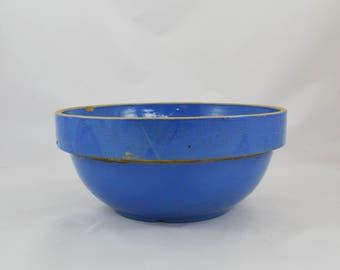 Vintage Robin's Egg Blue Salt Glaze Stoneware Bowl
