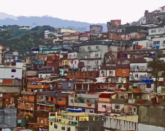 Favela Rocinha - Rio De Janeiro Brazil Slum Cityscape Fine Art Photo Print - Signed Limited Edition in Various Sizes and Mounting Options