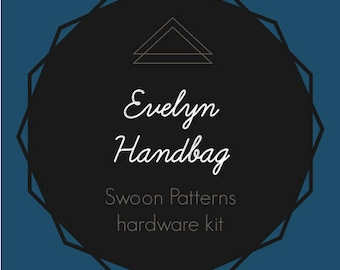 Evelyn Handbag - Swoon Hardware Kit - Rectangle Rings