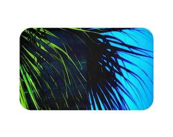 Palm Tree Leaf Bath Mat Palm Tree Bathroom Mat Palm Tree Shower Mat Palm Tree Bath Rug Palm Tree Bathroom Decor