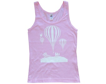 Balloons - Pink - Womens Singlet Top **SALE ITEM**