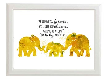Nursery Wall Art Boys Nursery art Boys Nursery Prints Elephant Nursery Wall Art- Lustre Poster Print