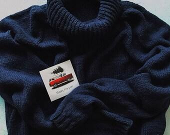 boyfriend knitting sweater