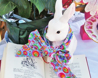 Bow Ties for White Rabbit OR March Hare CHOOSE FABRIC Alice in Wonderland Tea Party