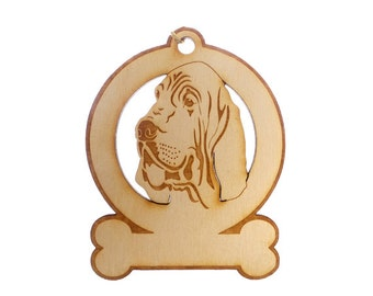 Bloodhound Ornament - Bloodhound Gift - Bloodhound Ornaments - Bloodhound Gifts - Bloodhound Memorial - Personalized Free