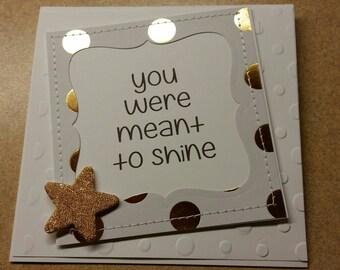 Sewn Handmade Inspirational Card