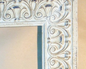 """White Washed Shabby Chic French Country Picture Frame 5 x 7"""""""