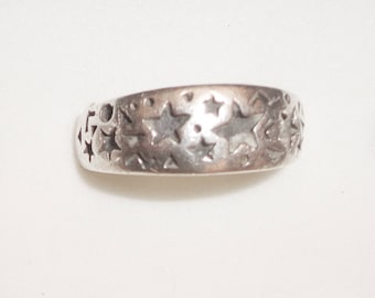 Sterling Silver Star Ring size 10