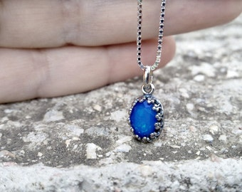 Sterling Silver Swarovski Necklace Floating Charm Necklace Minimalist Necklace Minimalist Jewelry