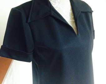 Black top/1970 vintage by Jane Colby/Lady's Top/Women's clothing/Retro top/vintage fashion/Iconic Jane Colby/70's fashion