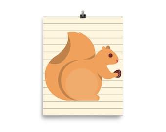 cuddly squirrel print