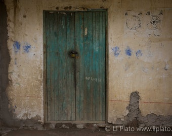 Sacred Valley Entries 2, Fine Art Photography, Landscape, Inca, Ollantaytambo, Small Town, Doorway, Wall Art, Home Decor