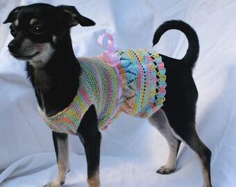 EASTER  - Dog Sweater Knitting Pattern, PDF, XS-M