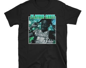 Playboi Carti Blue/Green Vintage T-Shirt