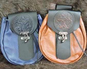 Customizable XLarge Economy Sporran Design Leather Belt Bag / Pouch Medieval, Bushcraft, Costume, Ren Faire
