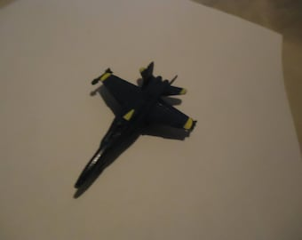Vintage Blue Angels F-18 Hornet Diecast Metal Plane Toy, collectable