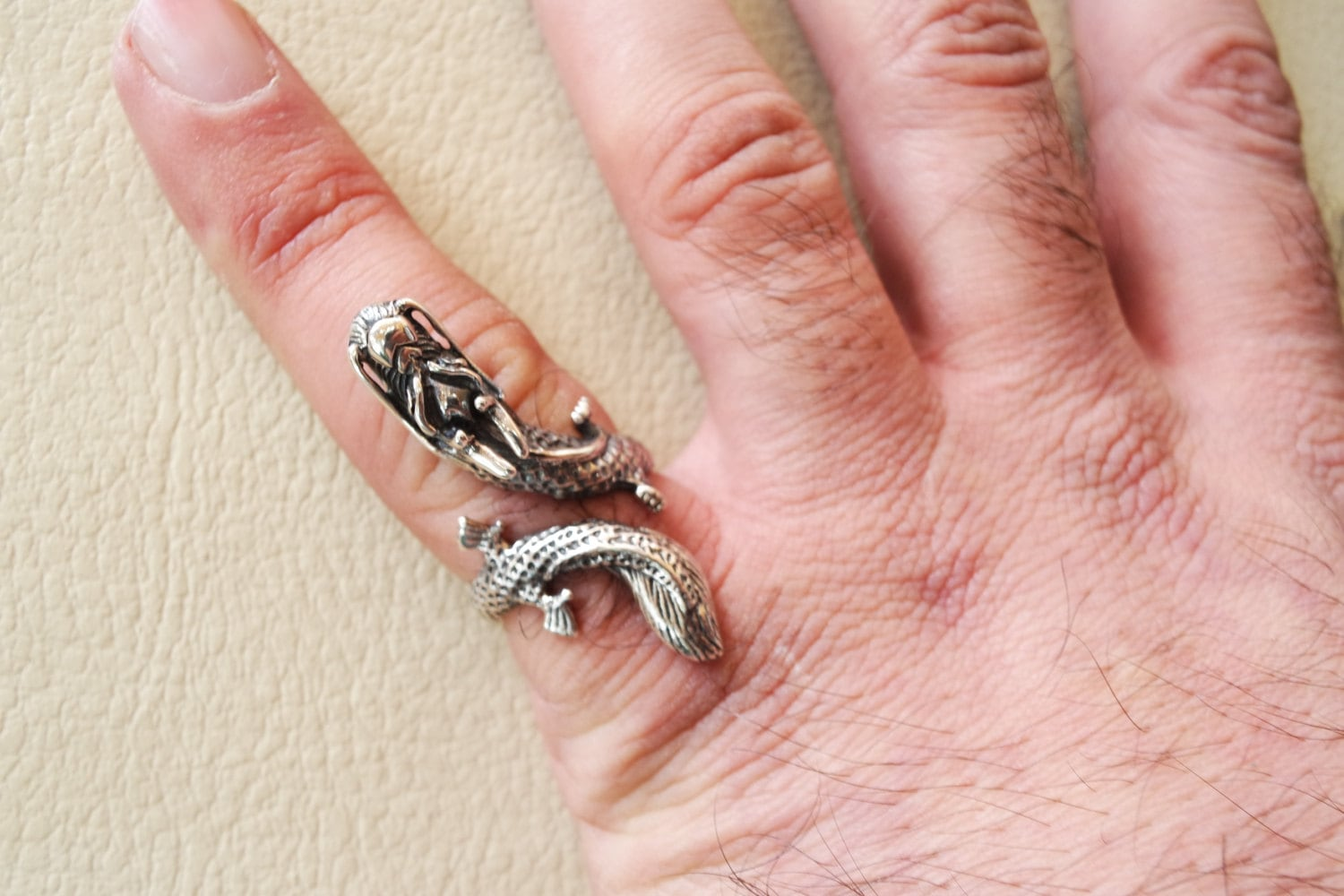 Chinese dragon ring sterling silver 925 man biker ring all