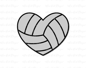 Volleyball Heart SVG DXF PNG for Cameo, Cricut & other electronic cutters