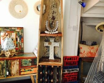 Handmade Reclaimed Boat Wood Wine Rack